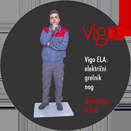 Električni grelnik nog - Vigo ELA