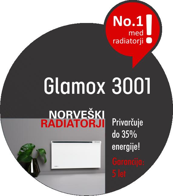 Norveški radiatorji - Glamox 3001