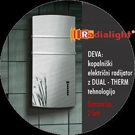 Radialight Deva - kopalniški električni radiatorji