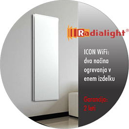 Radialight ICON Wifi - konvekcijski in IR grelniki