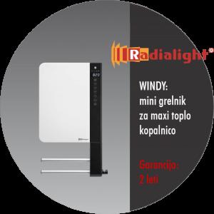 Radialight WINDY - mini kopalniški grelnik