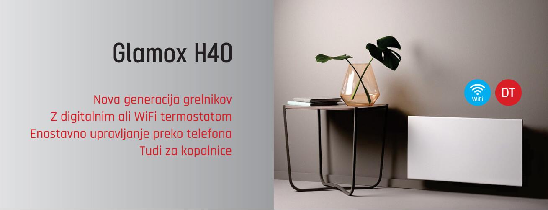 Glamox H40 varčni električni WiFi radiatorji