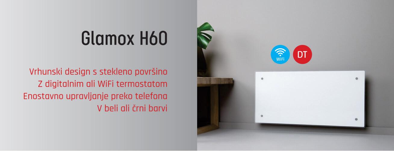 Glamox H60 varčni električni WiFi radiatorji