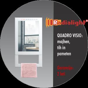 Radialight Quadro Visio - Kopalniški radiator z ogledalom